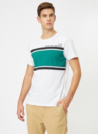 Koton Baskılı T-Shirt Beyaz